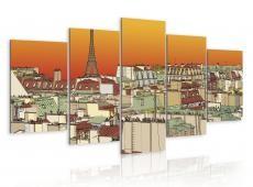 Kép - Parisian sky in orange colour
