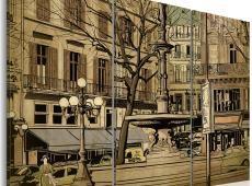 Kép - Párizsi szökőkút szépia