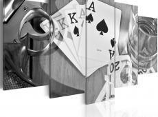 Kép - Poker night - black and white