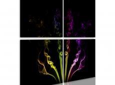 Kép - Rainbow-színű füst nyomvonalak