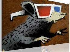 Kép - Rat with 3D glasses (Banksy)