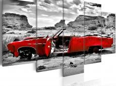 Kép - Red retro autó Colorado Desert - 5 db