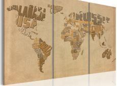 Kép - Régi térkép a világ - triptych