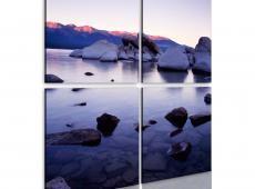 Kép - Rocky partján alpesi tó
