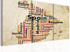 Kép - Spanyolország: text térkép színű nemzeti zászló
