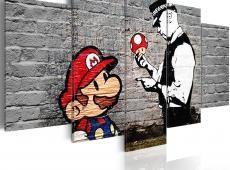 Kép - Super Mario Mushroom Cop (Banksy)