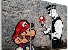 Kép - Super Mario Mushroom Cop by Banksy