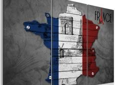 Kép - Szimbólumok Franciaország - triptych
