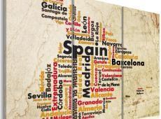 Kép - Szöveg megjelenítése: spanyol városok - triptych