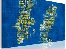 Kép - Szöveg megjelenítése Svédország (kék háttér)