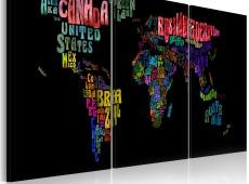 Kép - Szöveg Térkép of the World