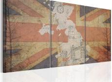 Kép - Térkép: Nagy-Britannia (Vintage)