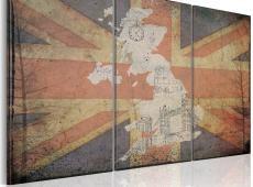 Kép - Térkép: Nagy-Britannia - triptych