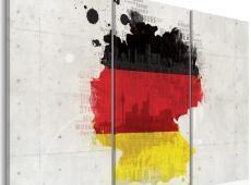 Kép - Térkép Németország - triptych