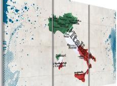 Kép - Térkép Olaszország - triptych