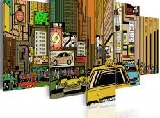 Kép - The streets of New York City in cartoons