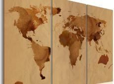 Kép - The World festett kávé - triptych