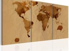 Kép - The World map színes kávét