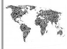 Kép - The World térkép - ábécé