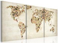 Kép - The World térkép - négyzetek