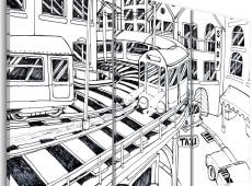 Kép - train station, Manhattan (black and white)