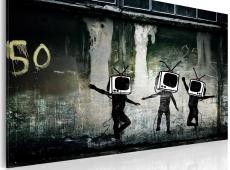 Kép - TV heads dance (Banksy)