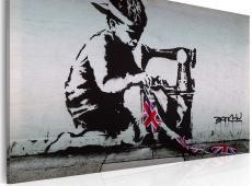 Kép - Union Jack Kid (Banksy)