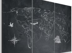 Kép - Utazás a világ körül - triptych