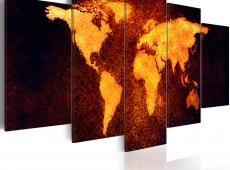 Kép - Világtérkép - Hot láva