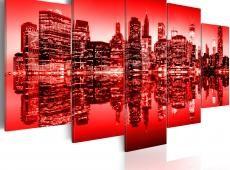 Kép - Vörös izzás át New York - 5 db