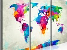 Kép - World Map: An Explosion of Colors