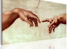 Kézzel festett kép - Létrehozása Adam: fragmens a festészet