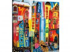 Kézzel festett kép - Magic street