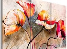 Kézzel festett kép - Poppies lashed by the wind