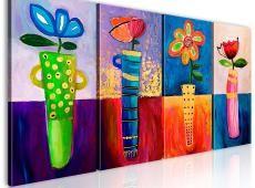 Kézzel festett kép - Rainbow flowers