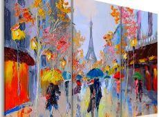 Kézzel festett kép - Rainy Paris