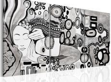 Kézzel festett kép - Silver Kiss