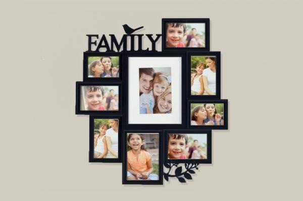 KH2006- Fa Fekete Family Fali képkeret