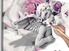 Kifestő - Angel (Flowers In The Background)