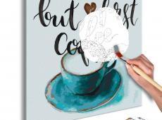 Kifestő - But First Coffee