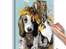 Kifestő - Dog and Sunflowers