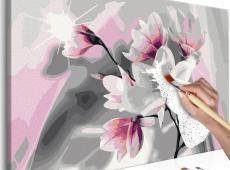 Kifestő - Magnolia (Grey Background)