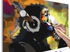 Kifestő - Monkey In Headphones (Multi Colour)