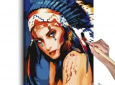 Kifestő - Native American Girl
