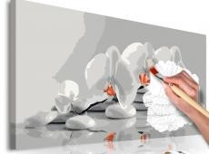 Kifestő - Orchid (white & grey)
