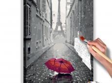 Kifestő - Paris (Red Umbrella)