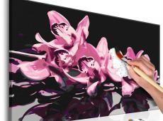 Kifestő - Pink Orchid (Black Background)