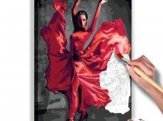 Kifestő - Red Dress