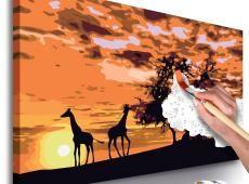 Kifestő - Savannah (Giraffes & Elephants)