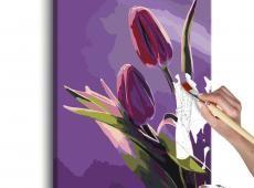 Kifestő - Tulips (Purple Background)
